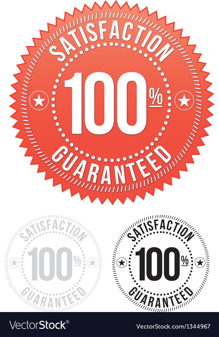 Red satisfaction guaranteed seals set vector | Price: 1 Credit (USD $1)