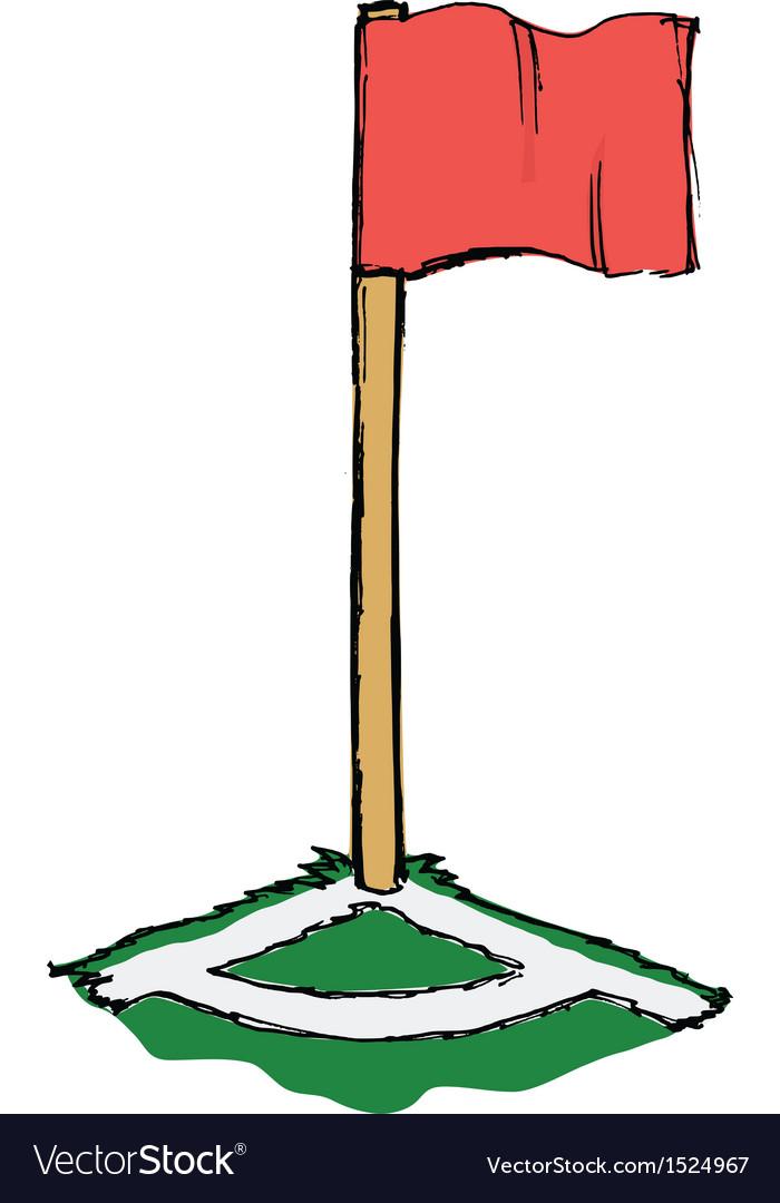 Soccer corner flag vector | Price: 1 Credit (USD $1)