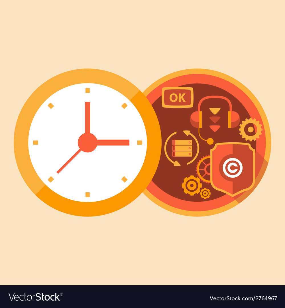 Time support and call center work vector | Price: 1 Credit (USD $1)