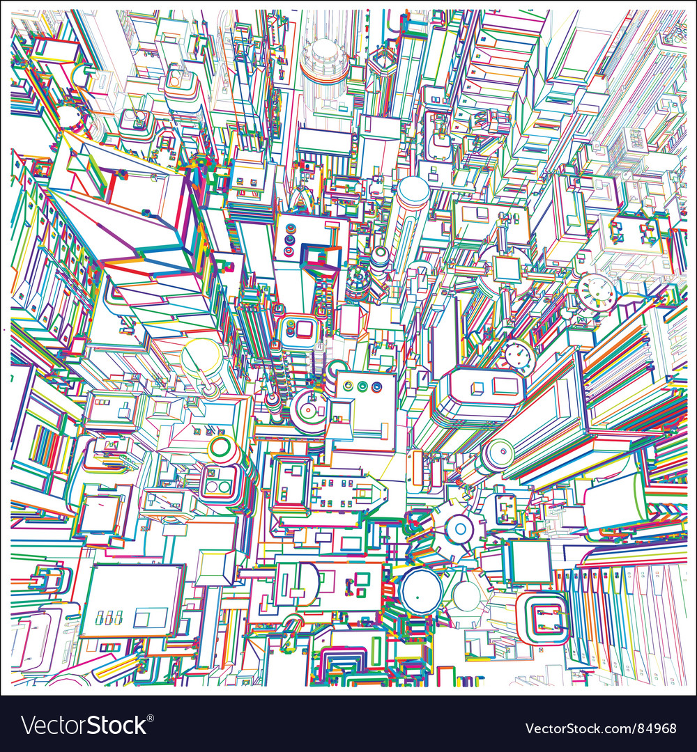 Abstract city vector | Price: 3 Credit (USD $3)