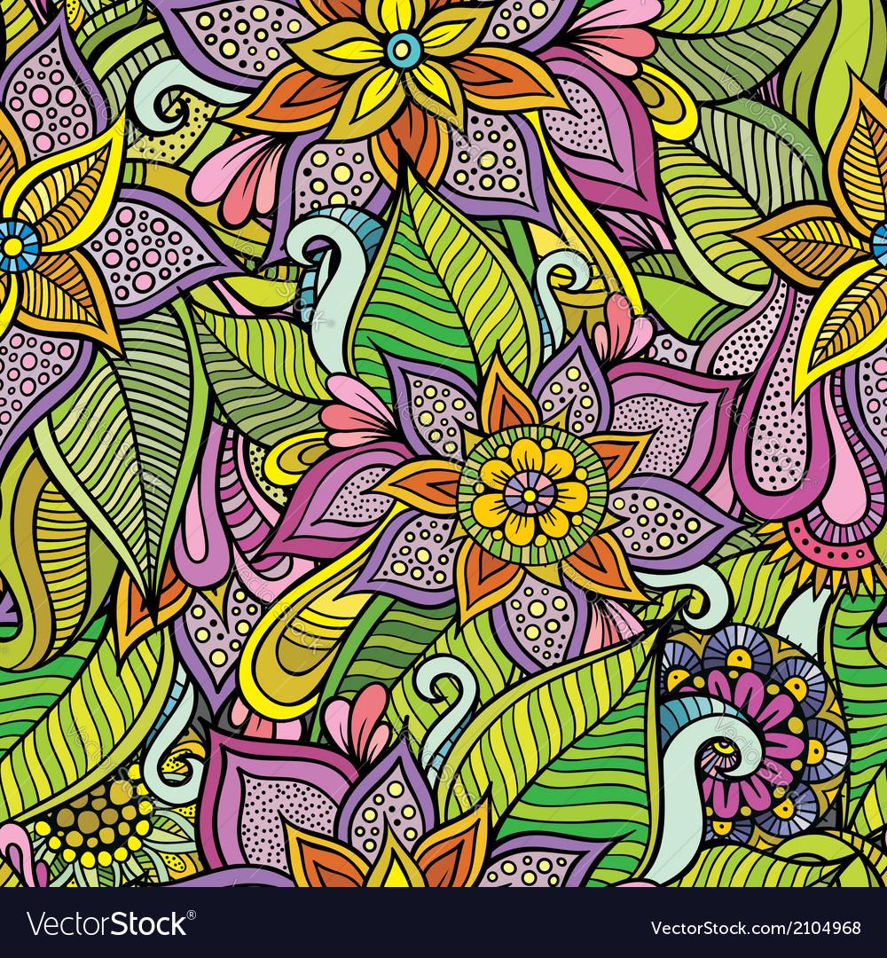 Beautiful decorative floral ornamental seamless vector | Price: 1 Credit (USD $1)