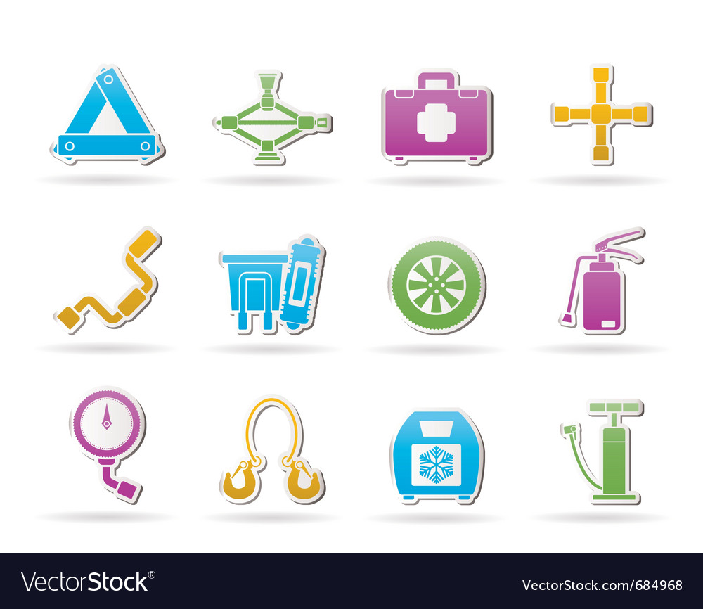 Car and transportation equipment icons vector | Price: 1 Credit (USD $1)