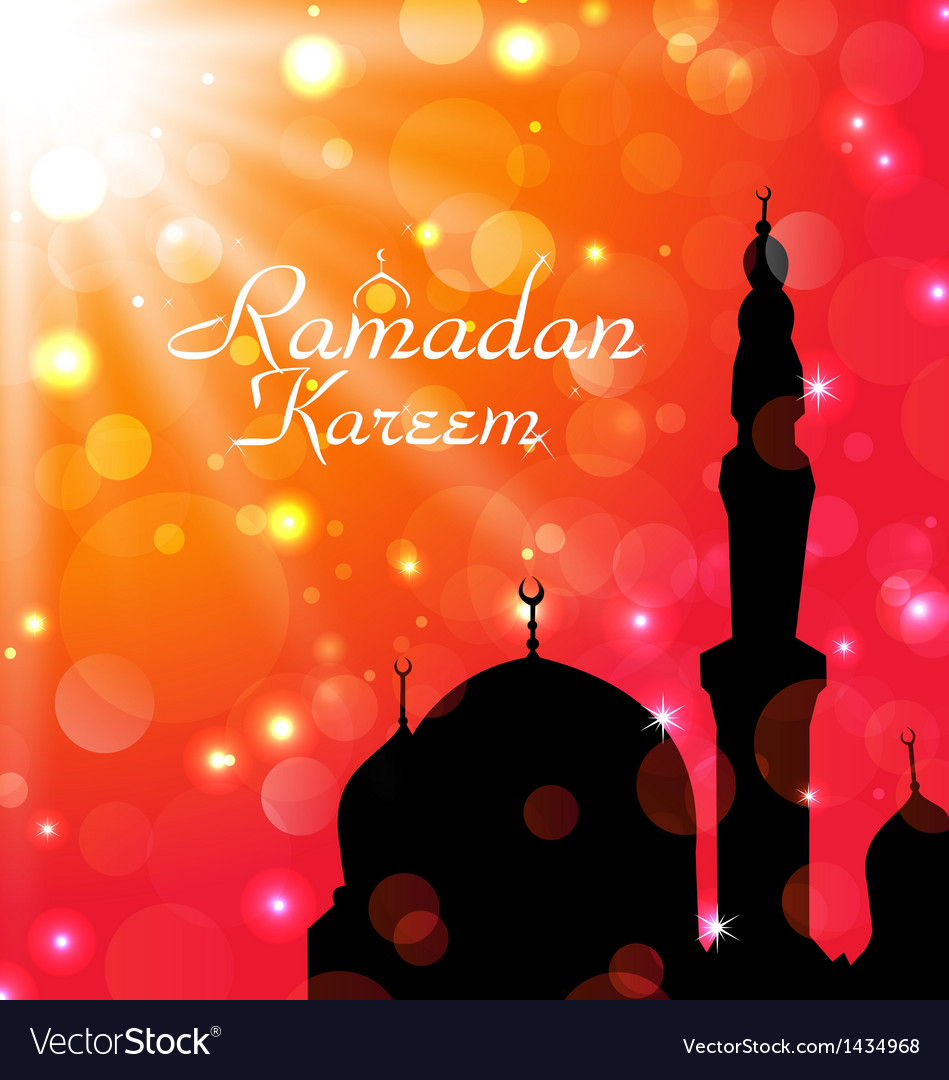 Celebration card for ramadan kareem vector | Price: 1 Credit (USD $1)
