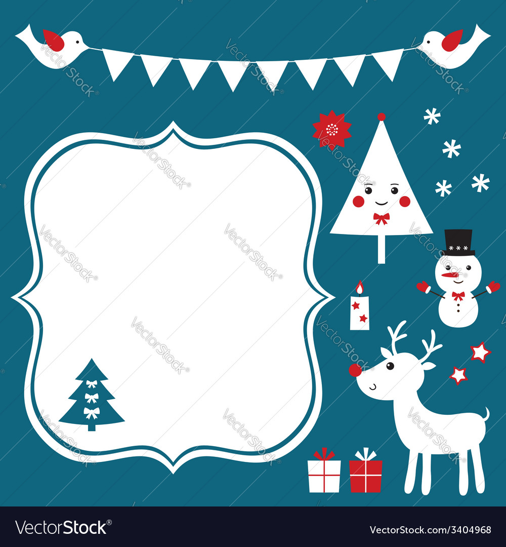 Christmas design elements set vector | Price: 1 Credit (USD $1)