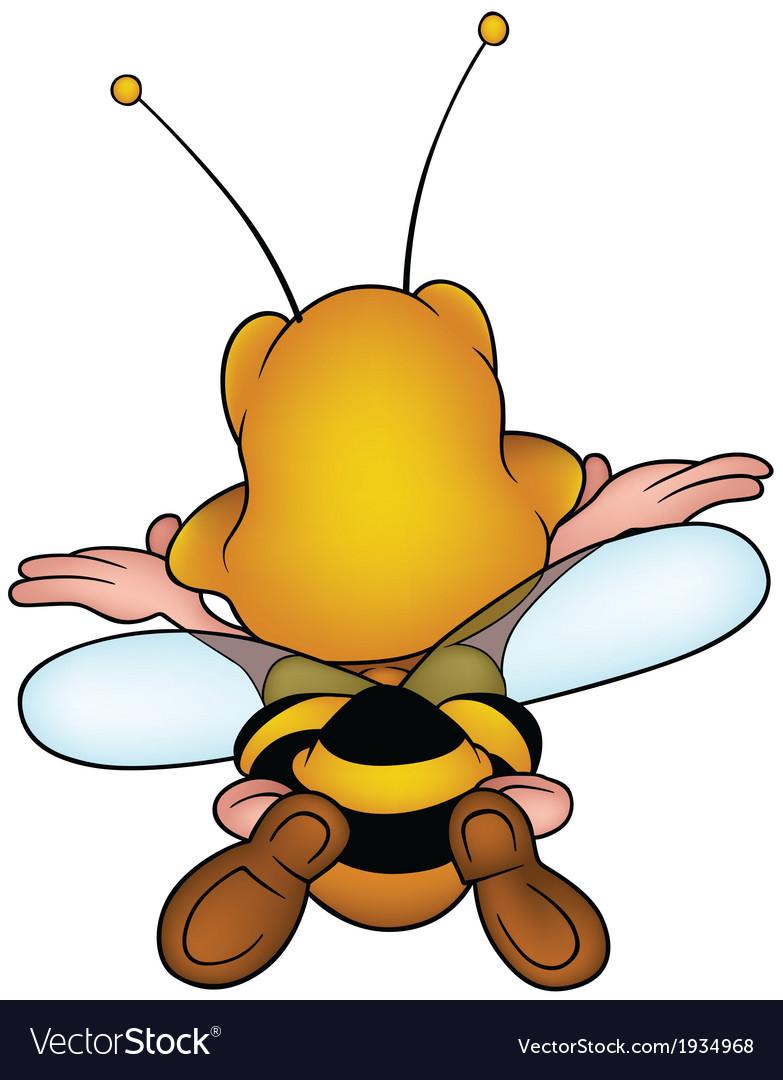 Flying honeybee vector | Price: 3 Credit (USD $3)