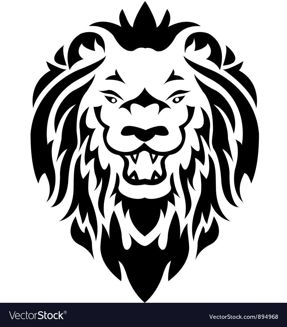 Lion tribal tattoo vector | Price: 1 Credit (USD $1)