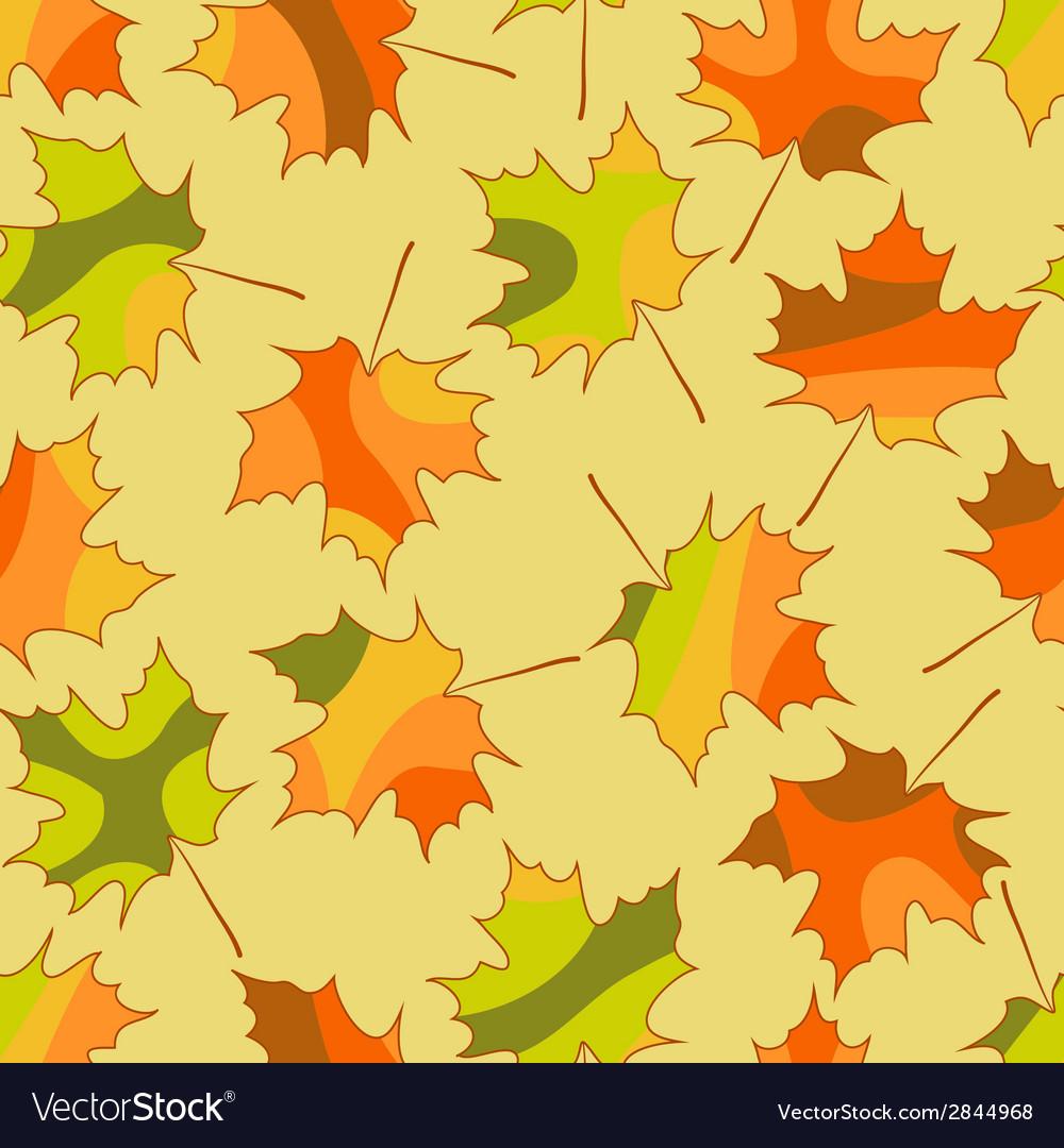 Mosaic maple leaf seamless pattern autumn seamless vector | Price: 1 Credit (USD $1)