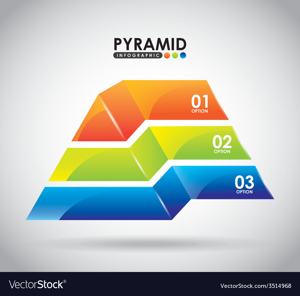 Pyramid infographic vector | Price: 1 Credit (USD $1)