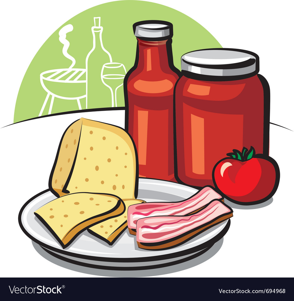 Tomato sauce cheese and bacon vector | Price: 3 Credit (USD $3)