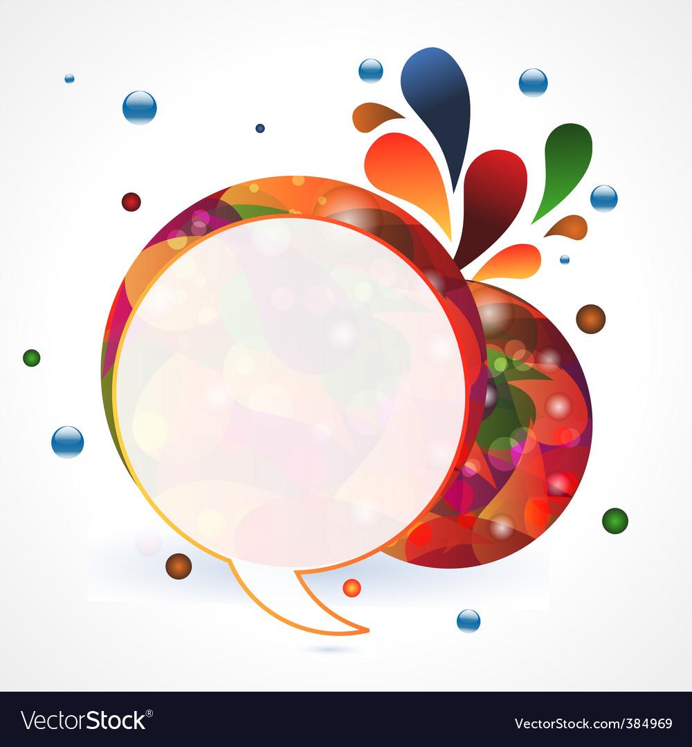 Circular speech bubble vector