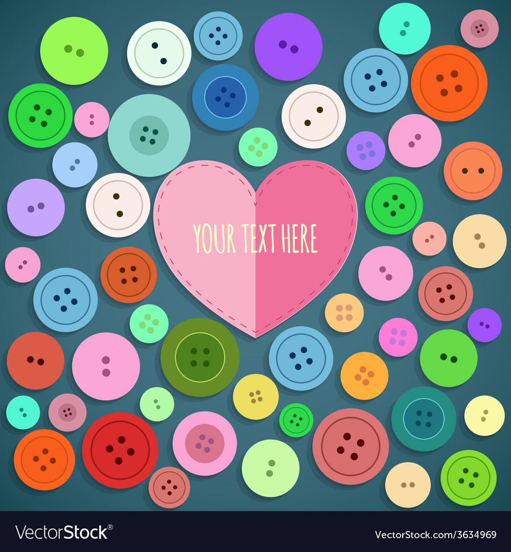Colorful sewing buttons seamless pattern vector | Price: 1 Credit (USD $1)