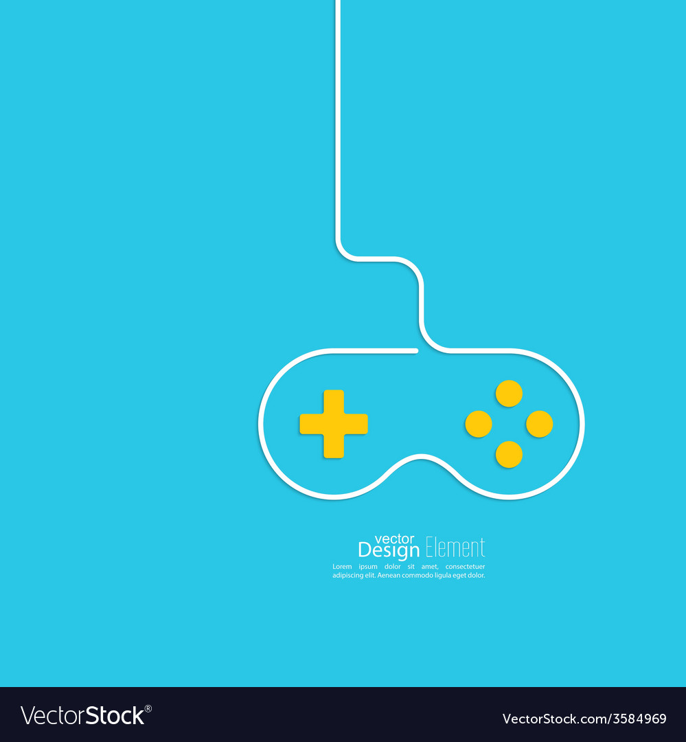 Game background wire and joystick vector | Price: 1 Credit (USD $1)