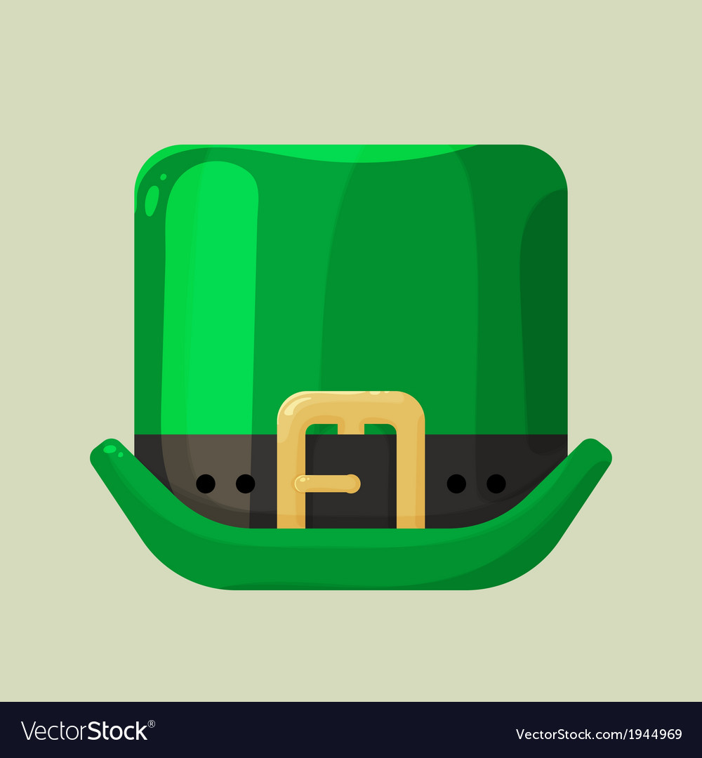 Green leprechaun hat with a buckle vector | Price: 1 Credit (USD $1)