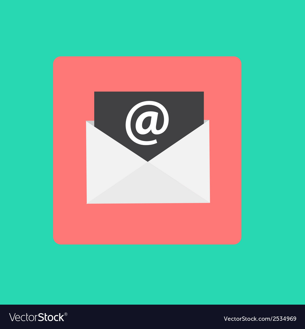 Inbox mail flat concept vector | Price: 1 Credit (USD $1)