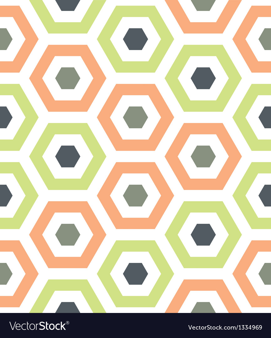 Melon and green hexagon hive vector | Price: 1 Credit (USD $1)