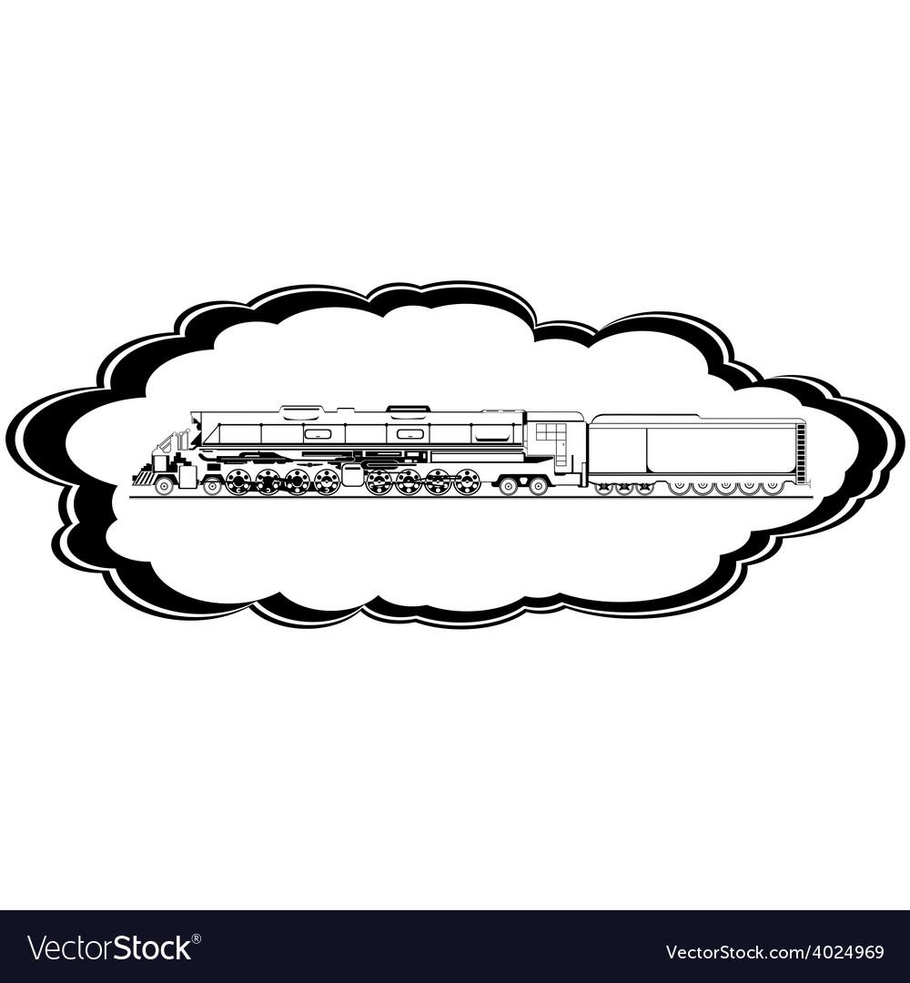 Old locomotive vector | Price: 1 Credit (USD $1)