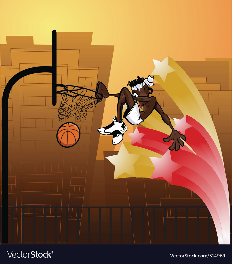 Slam dunk urban vector | Price: 3 Credit (USD $3)