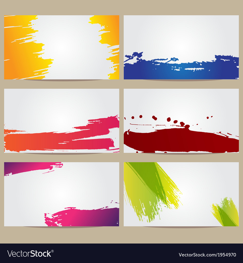 Business cards with blots vector | Price: 1 Credit (USD $1)