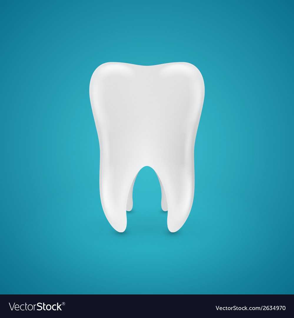 Clean healthy teeth on blue background vector | Price: 1 Credit (USD $1)