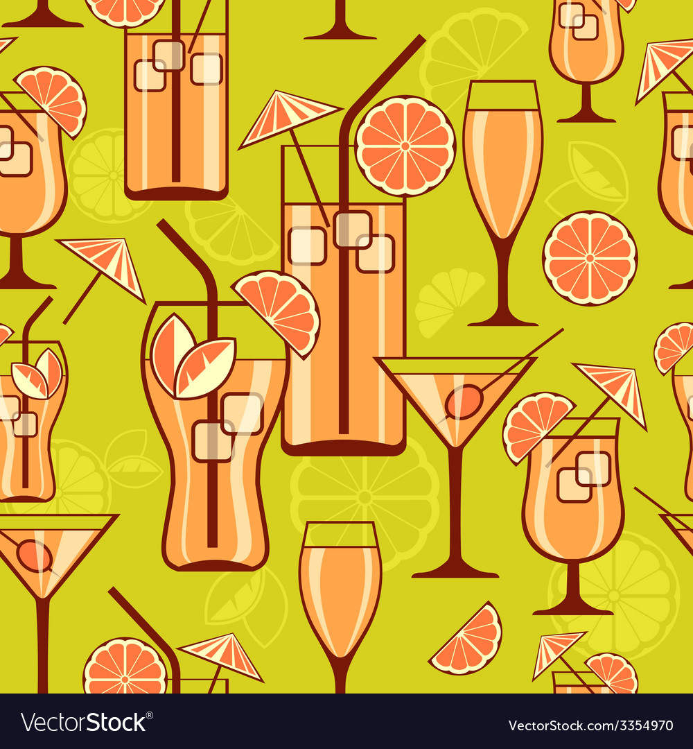 Cocktails background vector | Price: 1 Credit (USD $1)
