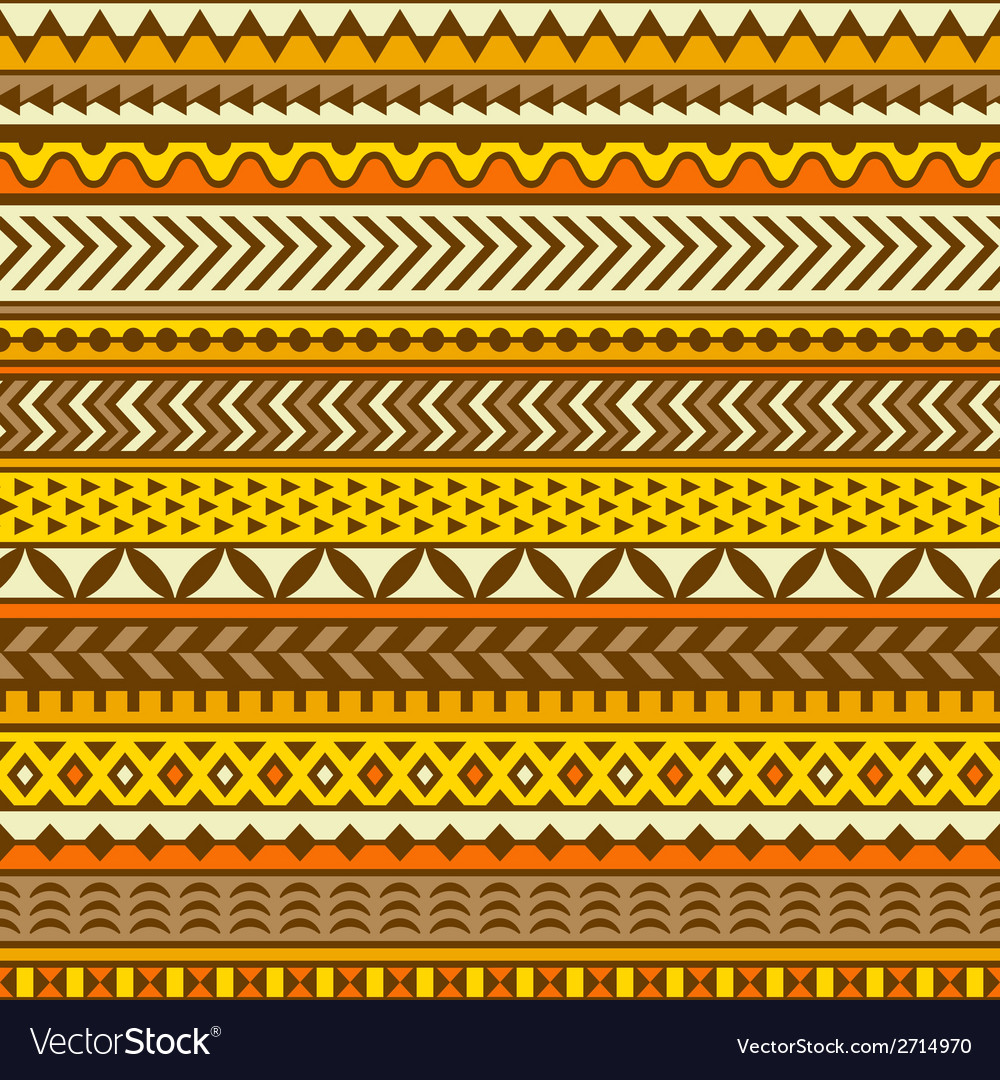 Ethnic pattern seamless background vector | Price: 1 Credit (USD $1)