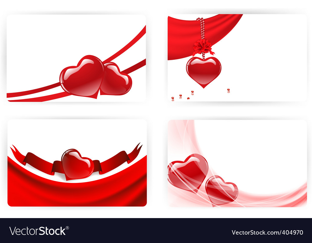 Heart cards vector | Price: 1 Credit (USD $1)