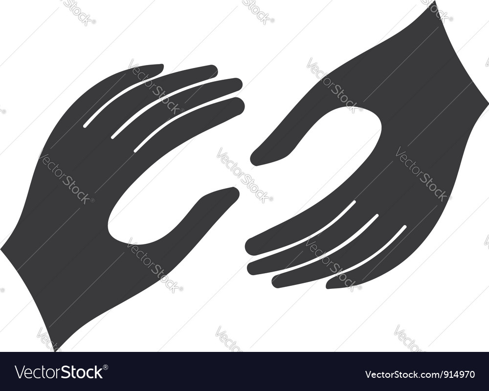 Helping hands logo vector | Price: 1 Credit (USD $1)
