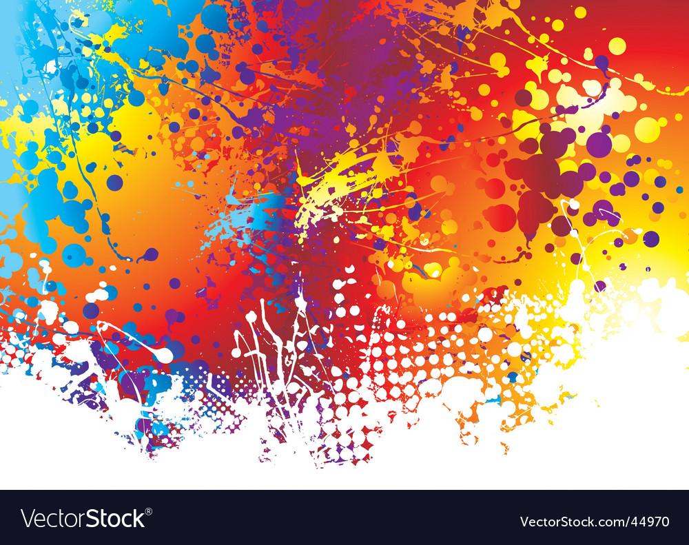 Ink splat rainbow background vector | Price: 1 Credit (USD $1)