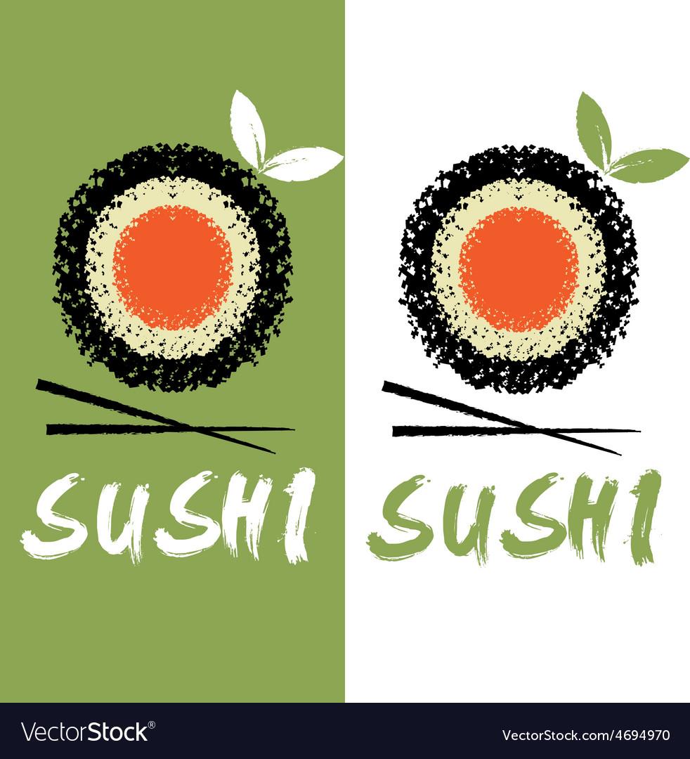 Sushi design template vector | Price: 1 Credit (USD $1)