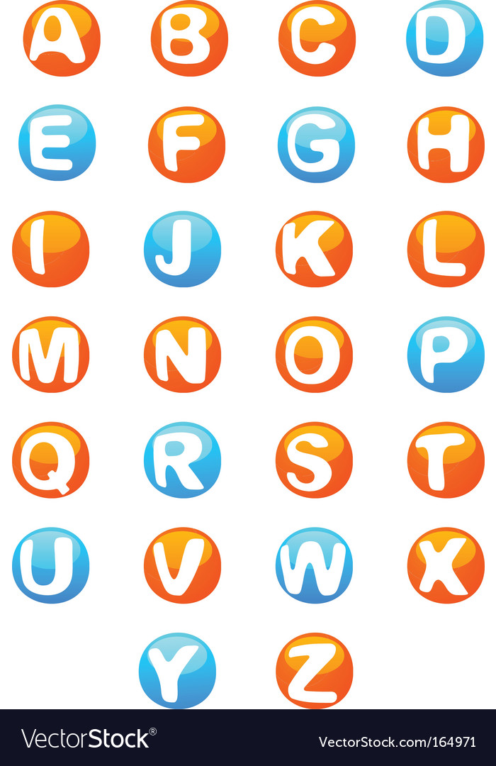 3d alphabet script capitals vector | Price: 1 Credit (USD $1)