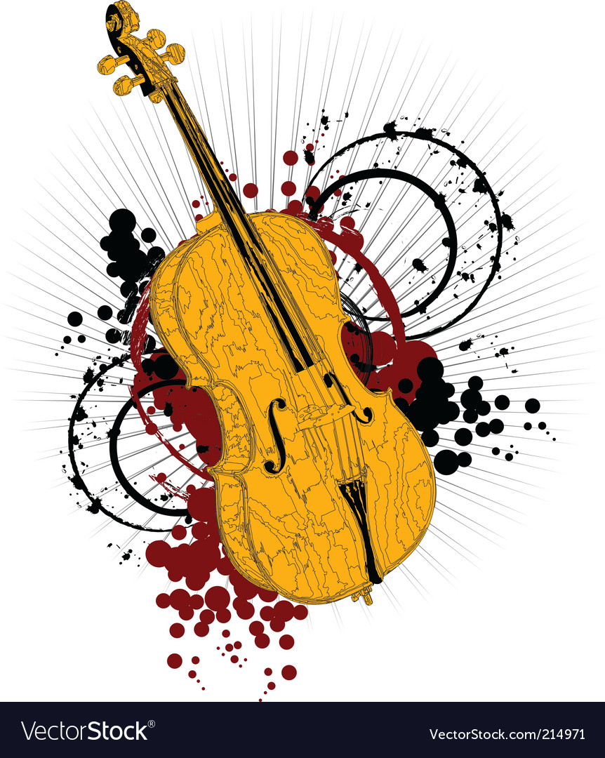 Artist violin vector | Price: 1 Credit (USD $1)