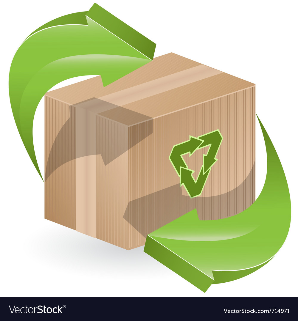 Green arrows on box vector | Price: 1 Credit (USD $1)