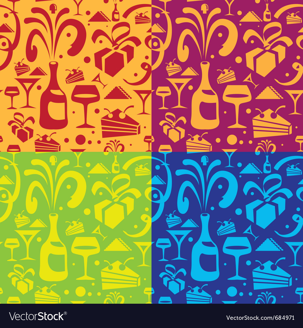 Holiday food seamless pattern vector | Price: 3 Credit (USD $3)