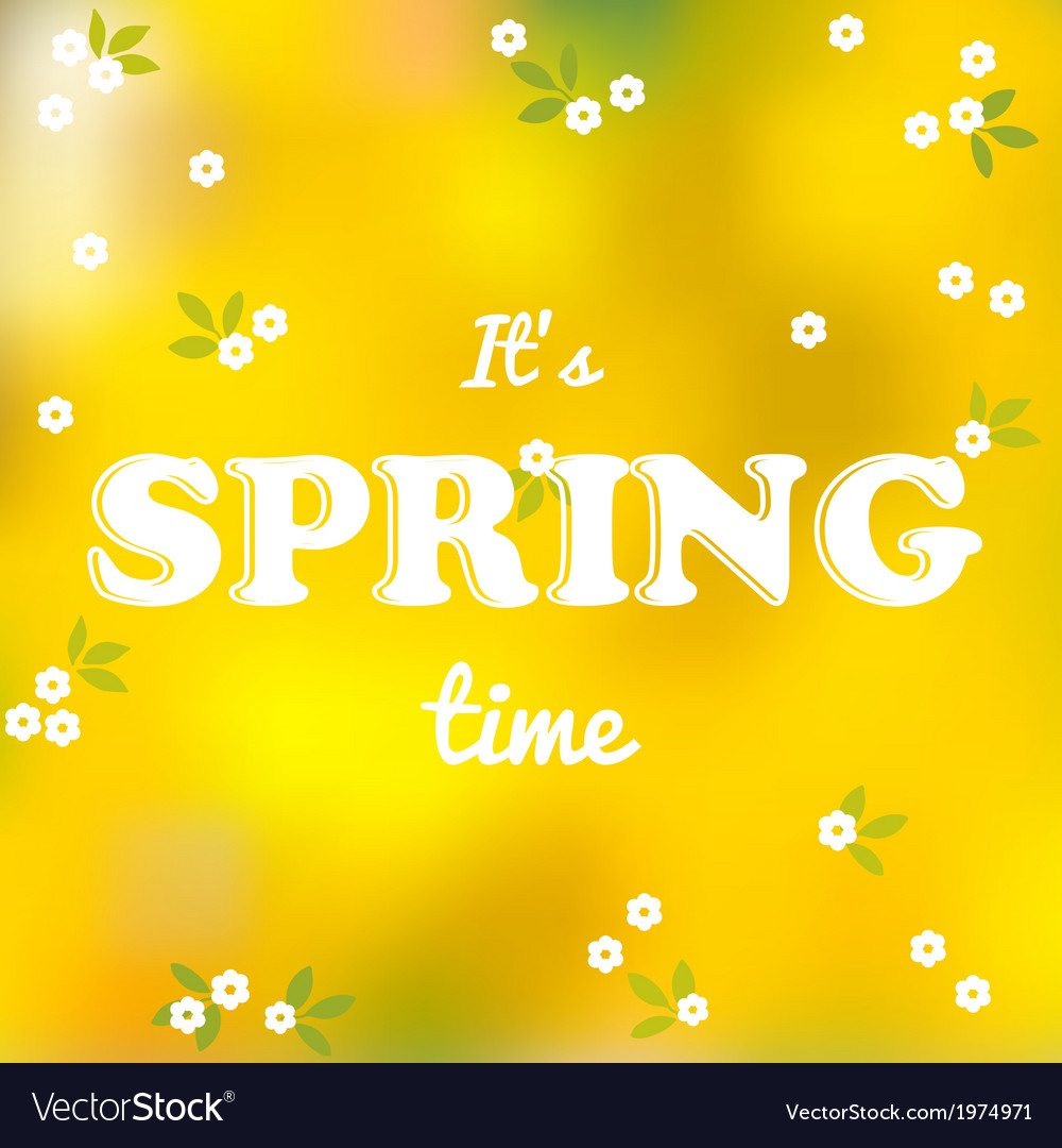 It is spring time words vector | Price: 1 Credit (USD $1)