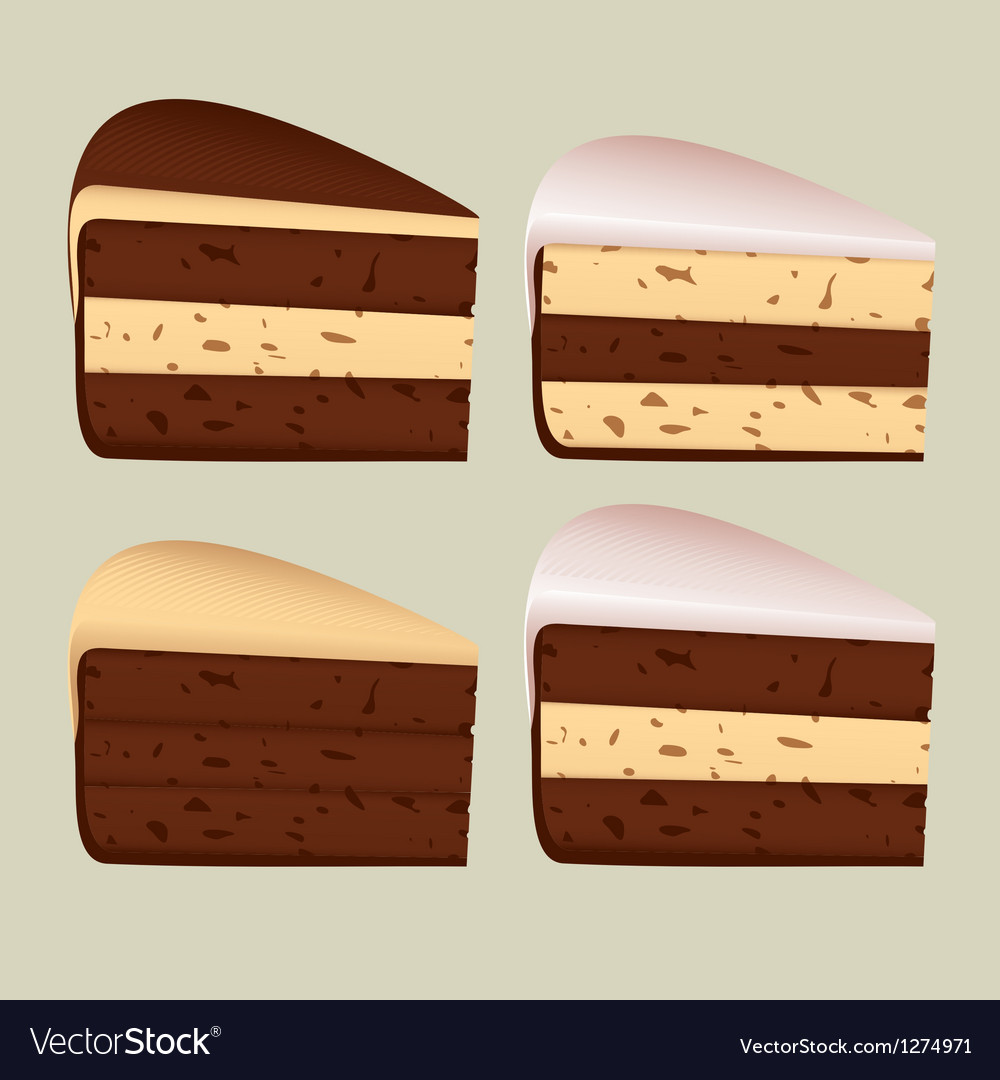 Pieces of cake vector | Price: 1 Credit (USD $1)