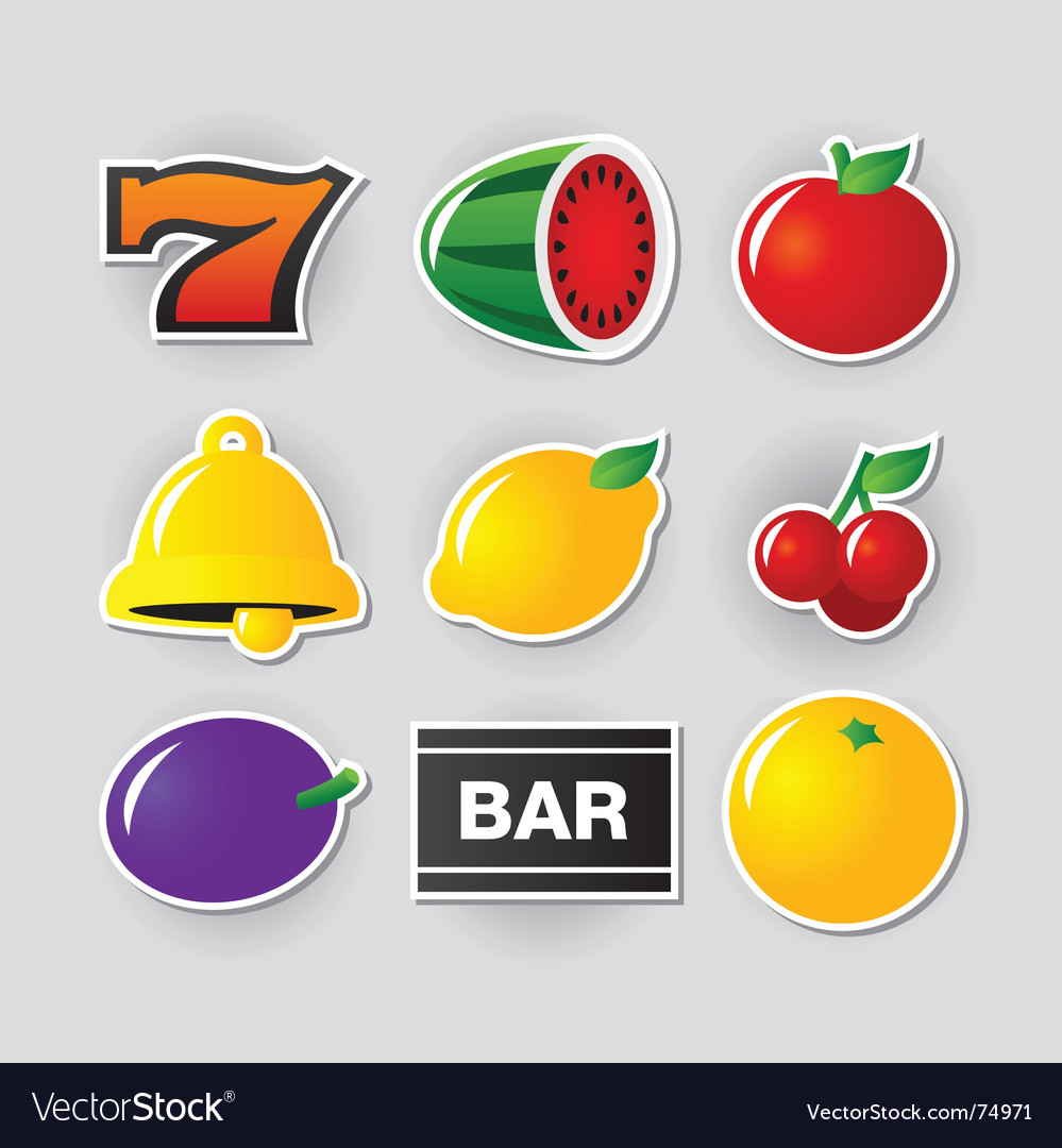 Slot symbols vector | Price: 1 Credit (USD $1)