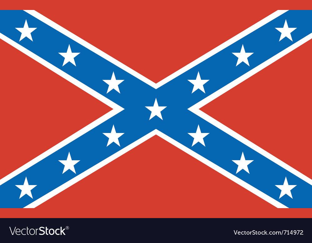 American confederate flag vector | Price: 1 Credit (USD $1)