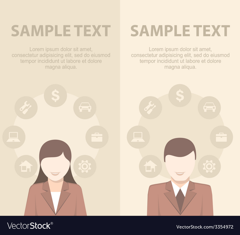 Businessmen have ideas on vector