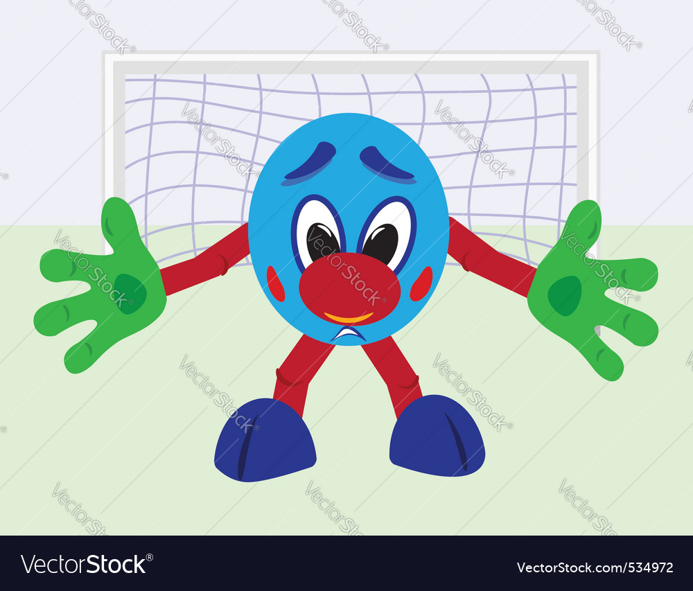 Cartoon football goalkeeper vector | Price: 1 Credit (USD $1)