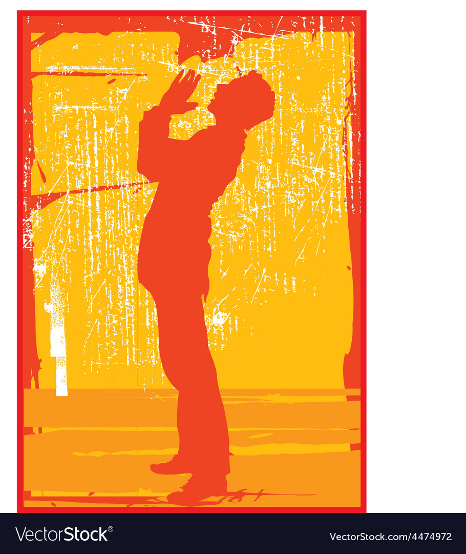 Guy praying silhouette vector | Price: 1 Credit (USD $1)
