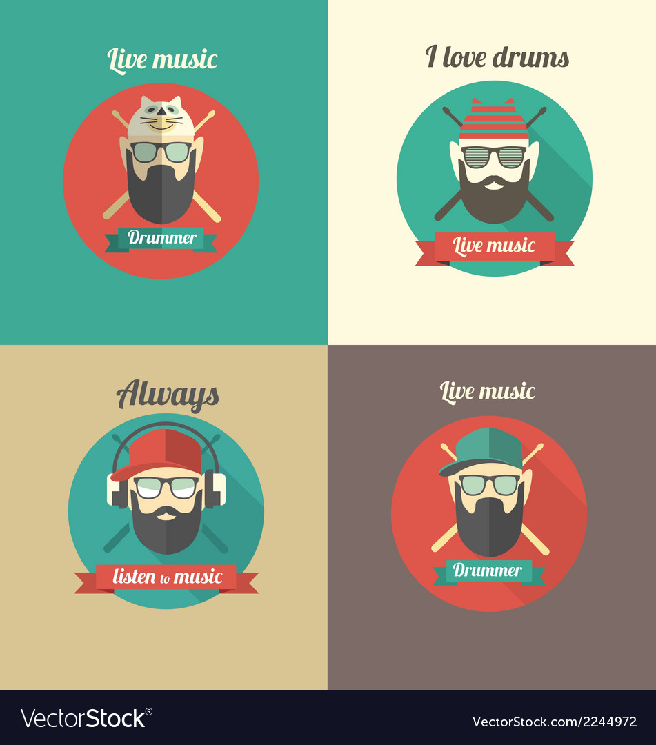 Love drums vector