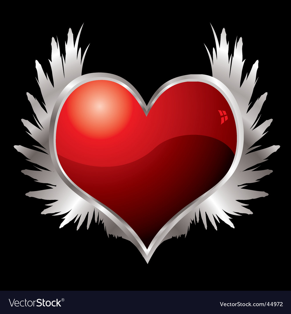 Love heart wings vector | Price: 1 Credit (USD $1)