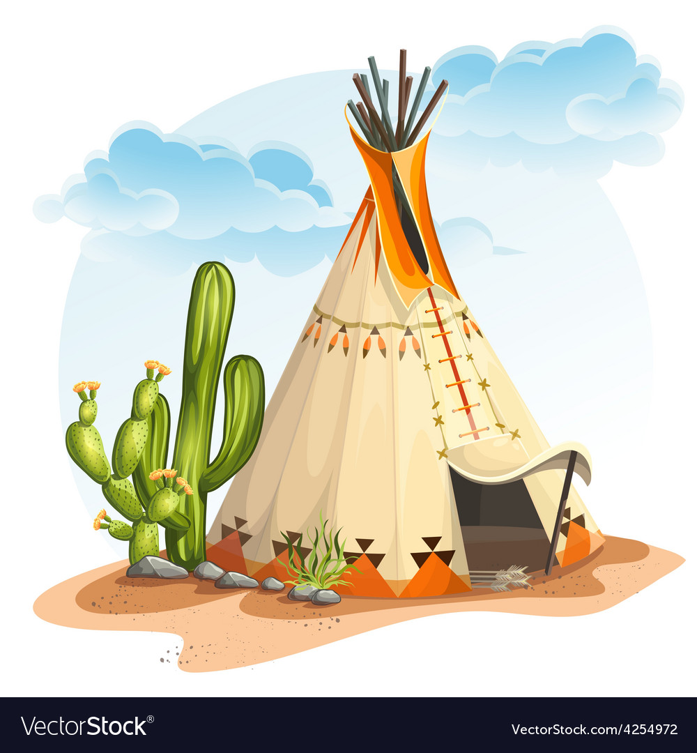 The north american indian tipi vector | Price: 5 Credit (USD $5)