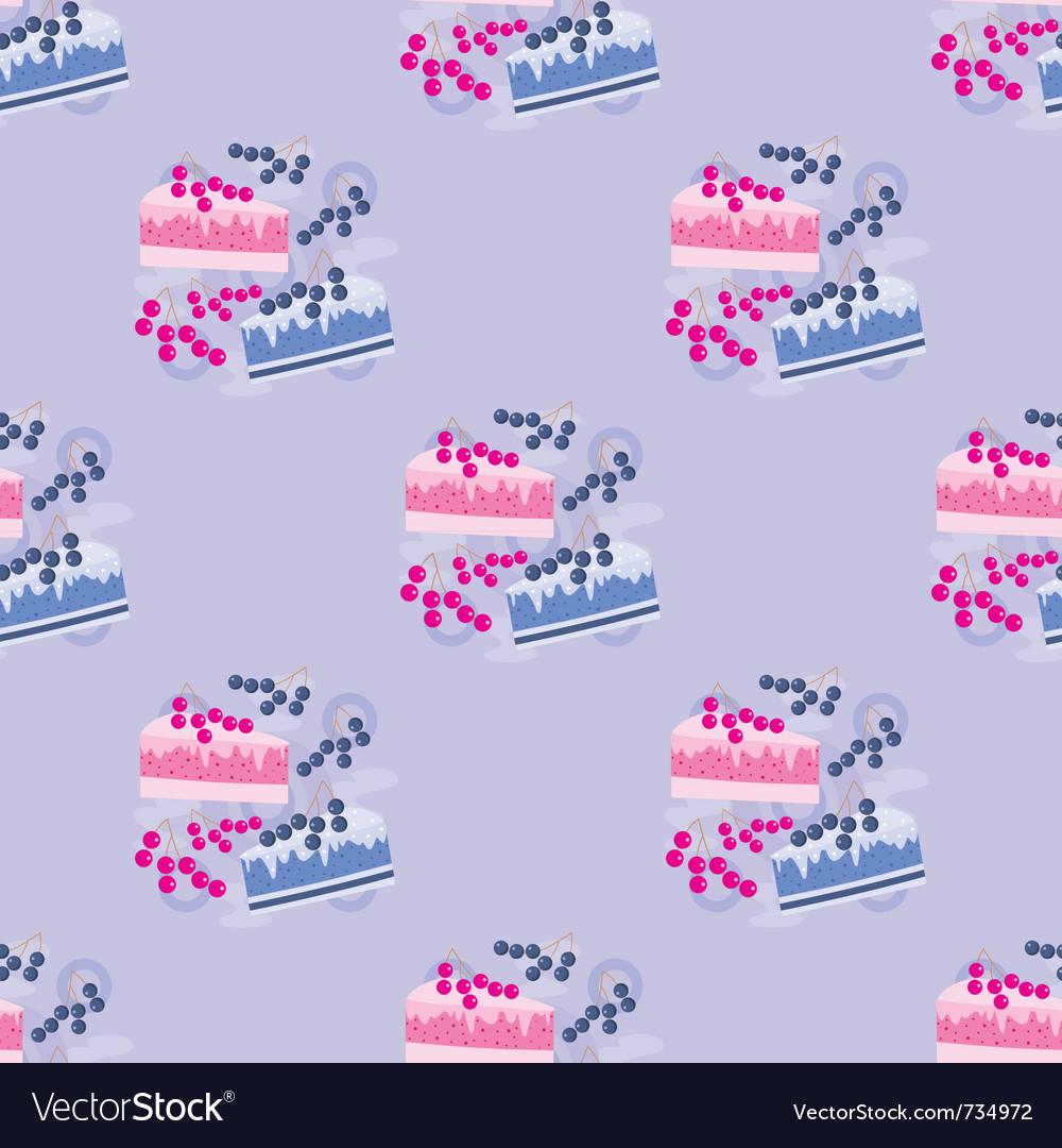 Seamless cake pattern vector   Price: 1 Credit (USD $1)