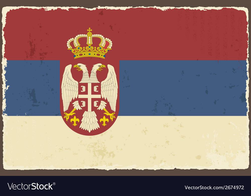 Serbian grunge flag vector | Price: 1 Credit (USD $1)