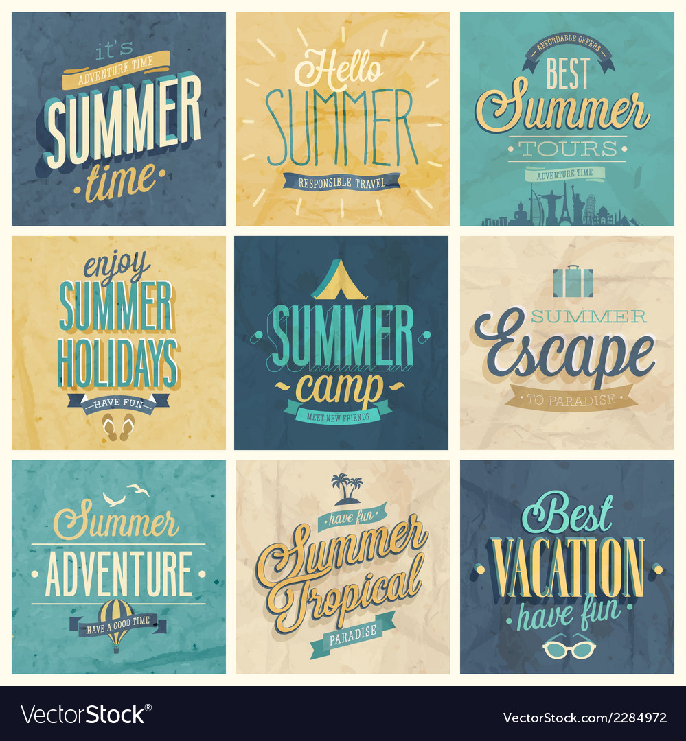 Summer set2 vector | Price: 1 Credit (USD $1)