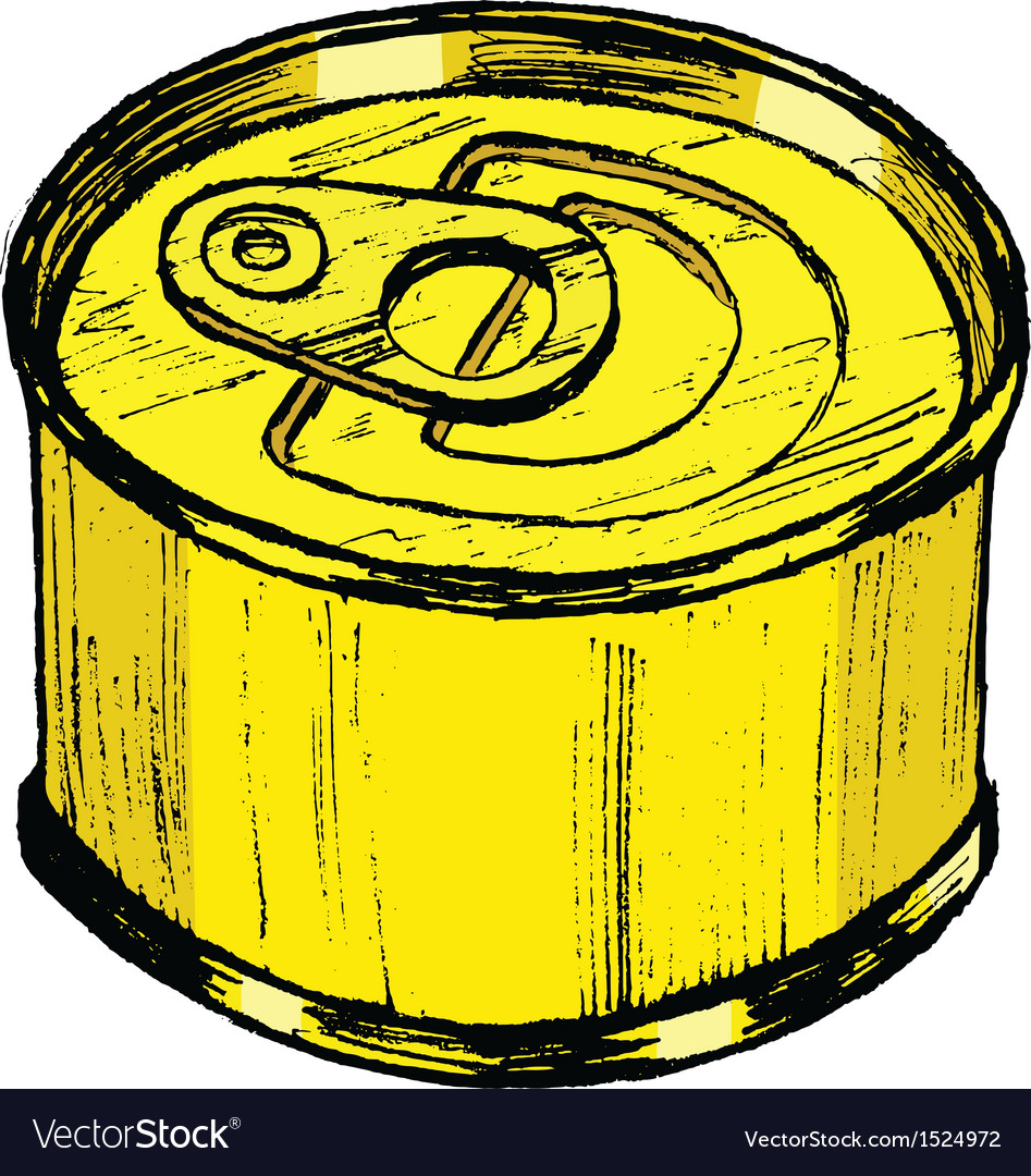 Tin can vector | Price: 1 Credit (USD $1)