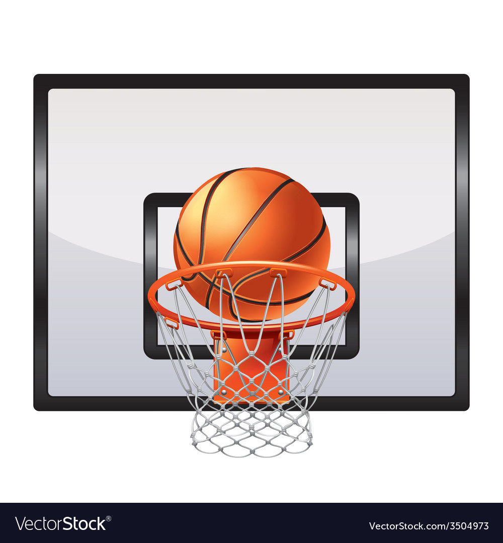 Basketball ring isolated vector | Price: 1 Credit (USD $1)