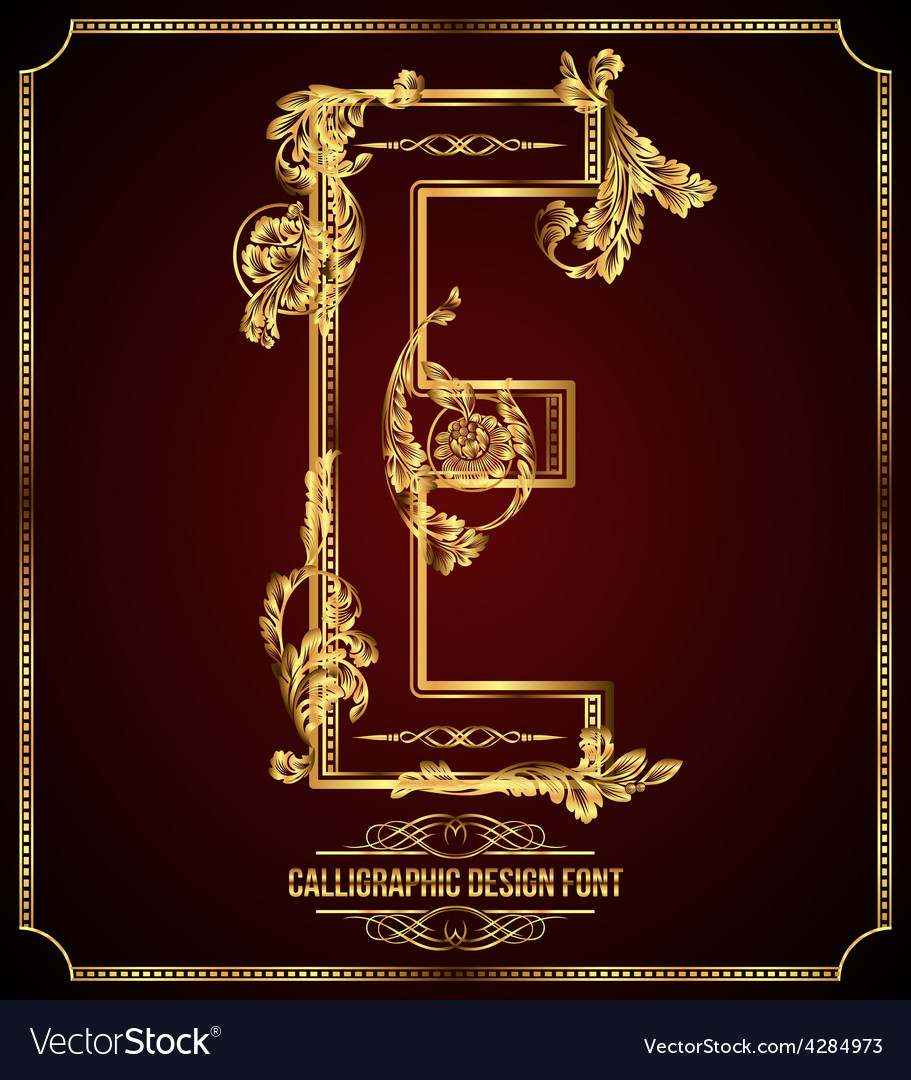 Calligraphic font letter e vector | Price: 3 Credit (USD $3)