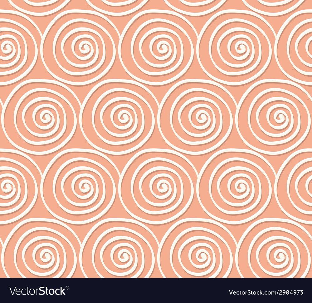Circles and swirls vintage seamless pattern vector | Price: 1 Credit (USD $1)